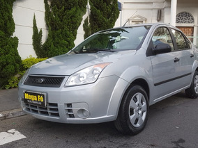 Ford Fiesta Sedan 1.0 First Flex 2008 Prata Completo 2º Dono