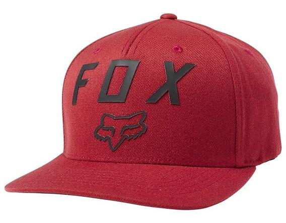 Gorra Fox Flexfit Number 2 Rojo Cardenal