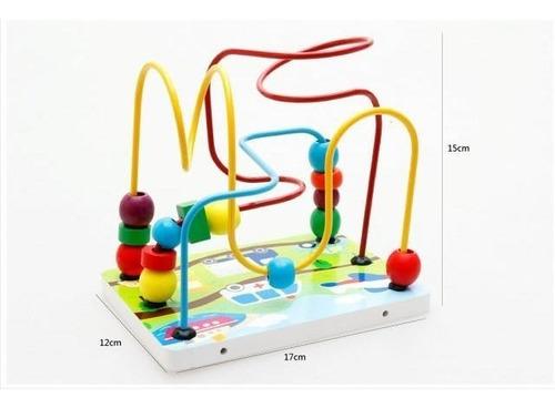 Imagen 1 de 6 de Juego Laberinto Madera Niños Montessori Juguete Didactico