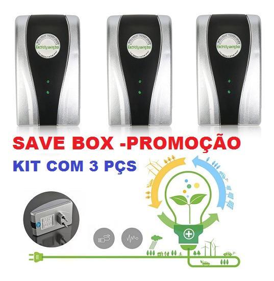 Redutor De Consumo De Energia Save Box Até 40% -kit 3 Peças