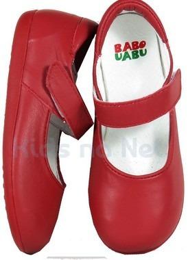 Sapato Infantil Vermelho Mary Jane - Babo Uabu