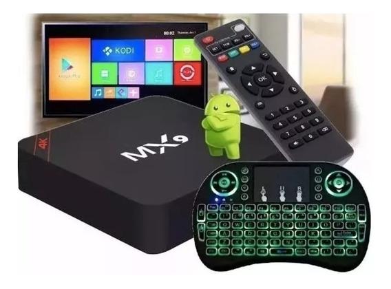 Kit Conversor De Box Tv 4k + Teclado Led Pronta Entrega