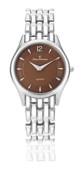 Relógio Pulso Jean Vernier Com Cristal Unissex Jv05711