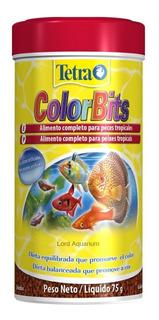 Ração Tetra Color Bits 75g Para Peixes Tropicais Val04/21