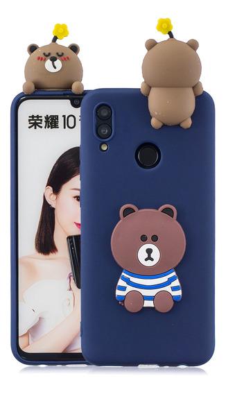 Para Huawei Honor 10 Lite Desenhos Animados 3d Adorável Tpu