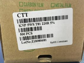 Resistor De Fio 220r 5w 5% - Caixa Com 500 Peças