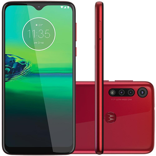 Smartphone Motorola Motog8 Play 32gb Câmera Tripla Vermelho