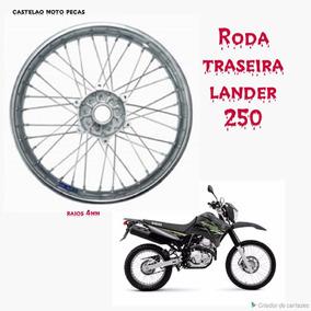 Roda Montada Yamaha Lander 250 Traseira Raios 4mm