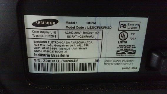 Placa Principal, Pl De Funções E Sensor Remoto, Alto Falante, Cabo Lvds Monitor Tv Samsung 2033m. Leia A Descrição