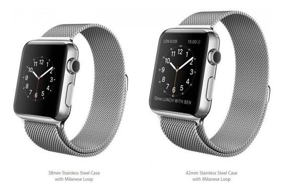 Apple Watch 42mm Stainless Steel Case W/milanese Loop Mj3y2l