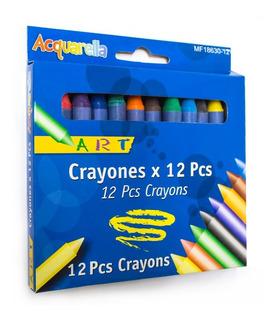 Crayolas Gruesas X12 Acquarella