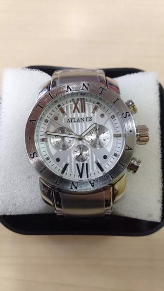 Relógio Original Atlantis Prata Estilo Bv