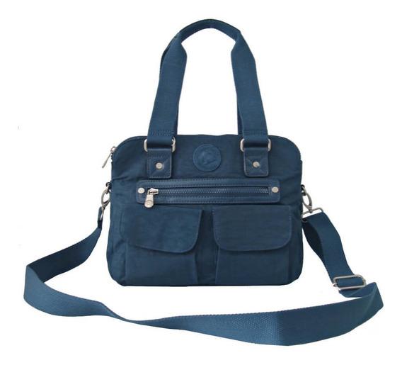 Bolsa Feminina Snoopy Sp3802 Coleção Be Casual Azul