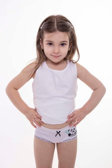 Culotte Nena Doble Cintura Con Estampa (art 08). Bannet