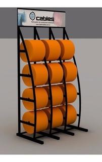 Exhibidor De Cable Unipolar 12 Bobinitas Plásticas C/ Cartel