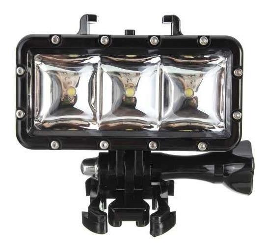 Led Gopro Sjcam Xiaomi Prova Dagua Lanterna Mergulho Camera