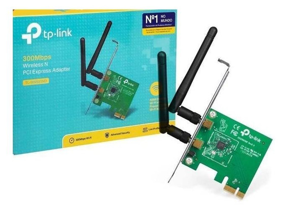 Placa De Rede Wifi Pci Express Tp-link Tl-wn881nd 300mbps