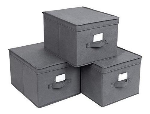 Imagen 1 de 2 de Songmics - Juego De 3 Cajas De Almacenamiento Grandes Plegab