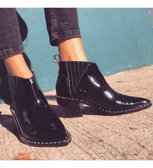 Zapato Sibyl Vane Cuero Alto Brillo Impecable