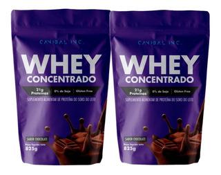 Combo 2x 100% Pure Whey Concentrado Refil 825g Canibal Inc