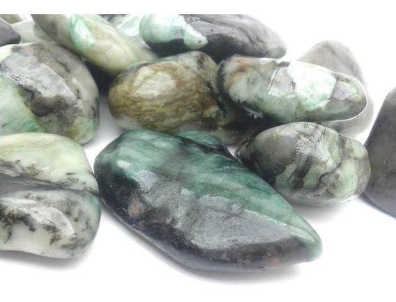 Esmeralda Rolada Natural 1kg Pedra Cura Cristais