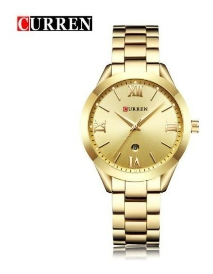 Relógio Curren Feminino Quartz Original Com Data