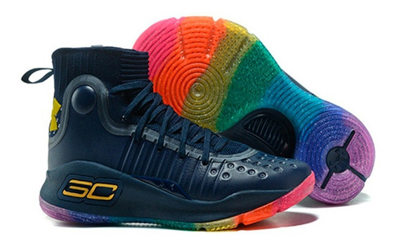 Zapatillas Basket Under Armour Curry 4 Colors + Obsequio