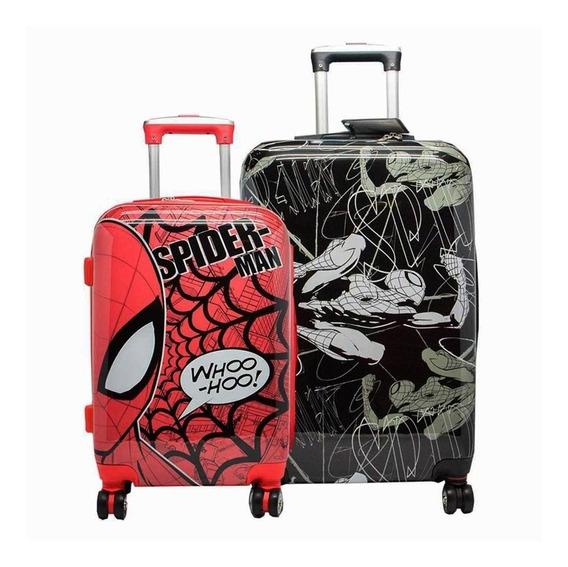 Valija Grande Spiderman Negra