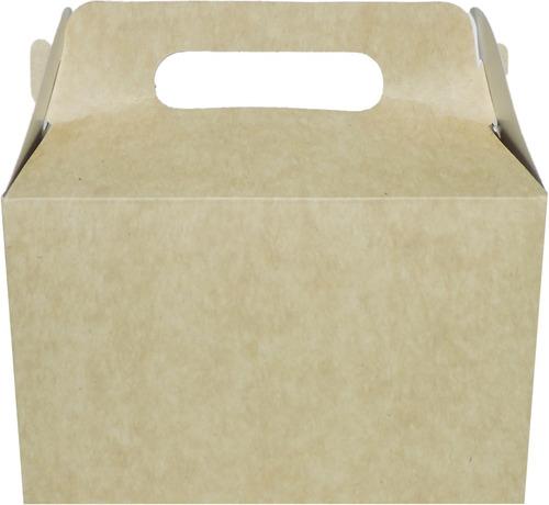 Imagen 1 de 7 de Cajita Feliz Cfz2 X 100u Packaging Blanco Madera