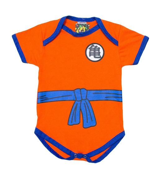 Body Personalizado Fantasia Goku Para Bebês Enxoval