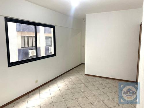 Apartamento Com 1 Dormitório À Venda, 46 M² Por R$ 265.000,00 - Encruzilhada - Santos/sp - Ap5852