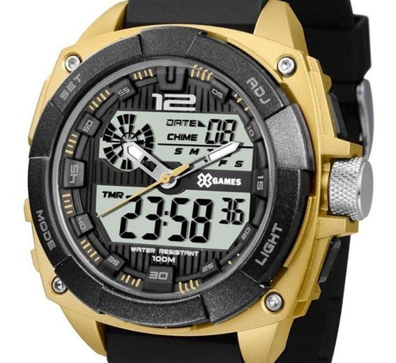 Relógio X-games Masculino Digital Dourado / Preto
