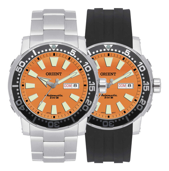 Relógio Orient Automático Masculino Kit 469ss040 O1sx