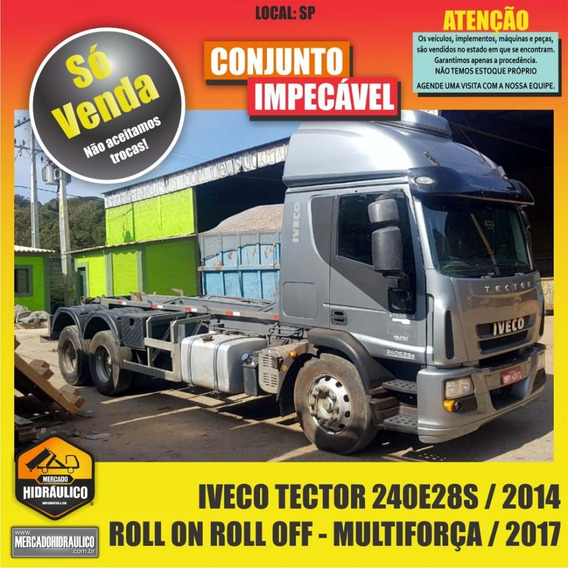 Iveco Tector 240e28s / 2014 - Roll On Roll Off Multiforça