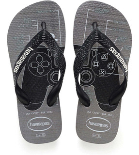 Chinelo Havaianas Playstation Cinza Aço Kids Rcr Games