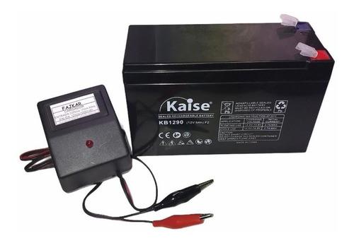 Imagen 1 de 6 de Bateria Gel 12v 9ah + Cargador 12v Juguetes Electricos Niños