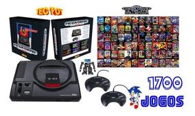 Sega Mega Drive Tectoy Retrô 2019 1700 Jogos 2 Controles