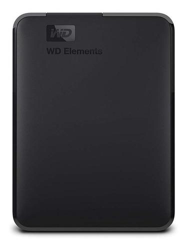 Imagen 1 de 3 de Disco duro externo Western Digital WD Elements WDBU6Y0040BBK-WESN 4TB negro