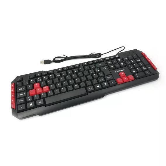 Teclado Multimidia Gamer Red Keys Usb Com Ç - Tc160