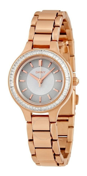 Reloj Dkny Chambers Silver Ny2393 Oro Rosa Original Nuevo