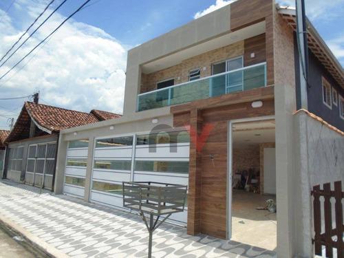Imagem 1 de 14 de Sobrado À Venda, 53 M² Por R$ 240.000,00 - Maracanã - Praia Grande/sp - So0119
