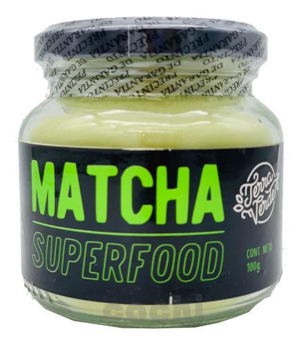 Imagen 1 de 3 de Matcha Puro Terra Verde 100gr Superfood