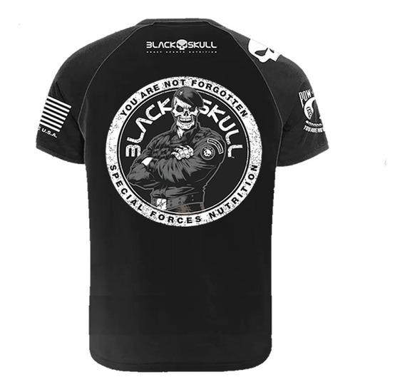 Camiseta Preta Dry Fit Bope - Black Skull
