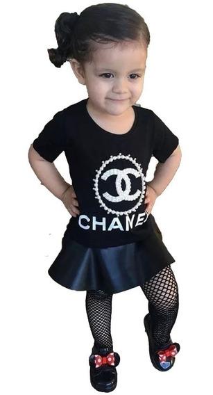 Conjunto Inf. Menina Mini Diva Peplum Luxo 02 Ao 10