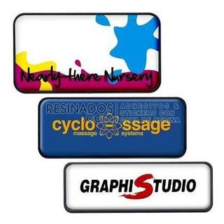 Placas Resinadas 3d Personalizadas Con Tu Logo O Diseño