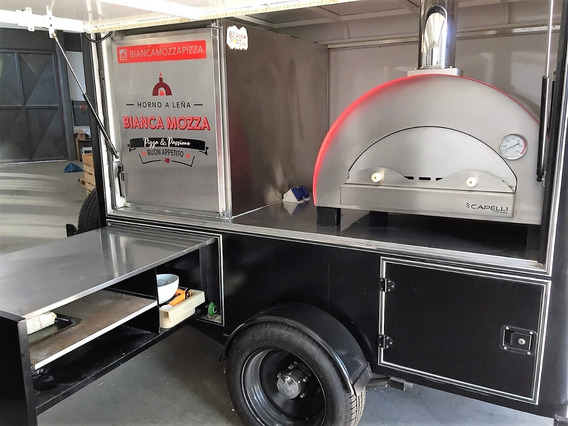 Food Truck Pizza Trailer - Listo P Trabajar - Horno A Leña -