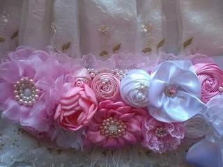 Listón De Embarazada/cinto Para Pansita De Bebe/flores