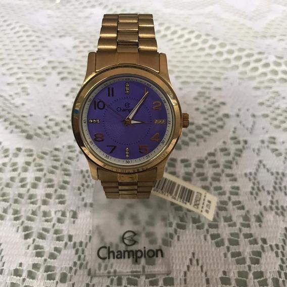 Relógio Feminino Champion Cn29221d Dourado