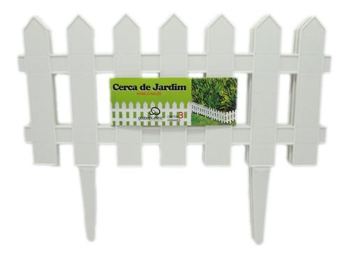 Kit 12 Cercas Decorativa P/jardim De Plastico Modelo Inglês