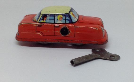 Carro Mini Naranja Con Familia Mecanismo Cuerda De Technofix